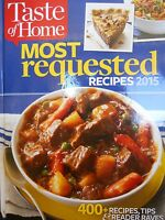Taste Of Home Most Requested Recipes 2015 Hardcover Cookbook 400+ Recipes