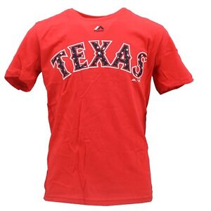 Texas-Rangers-Official-MLB-Majestic-Genuine-Kids-Youth-Size-T-Shirt-New-Tags