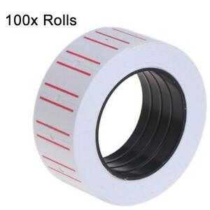 100x-Rolls-Label-Price-Tag-for-Pricing-Gun-Labeller-Red-and-White-Lined-Pricing
