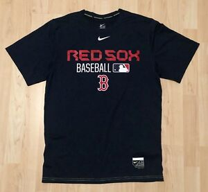 finest selection da12c 2ba73 Details about Boston Red Sox NIKE BSBL Nike Dri-Fit T-Shirt MLB Baseball  Size Small