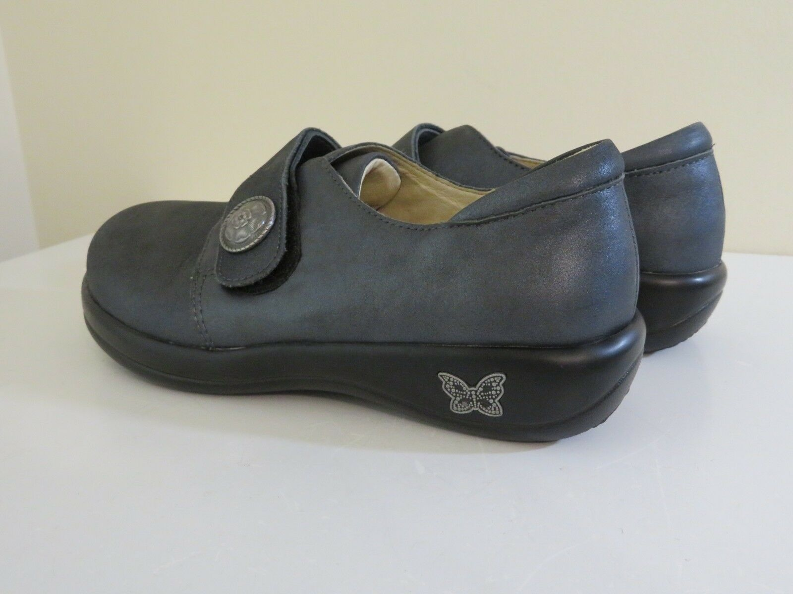 ALEGRIA LEATHER SLIP ON COMFORT ASHES schuhe JOLEEN ASHES COMFORT TO ASHES NEW 35 FITS 5 TO 5.5 c6ac7b