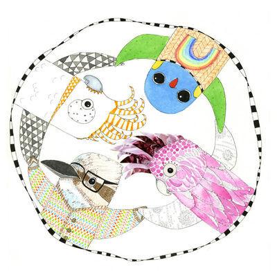NEW Circle of Friends, Australian Birds Fine Art Print by hiccup art