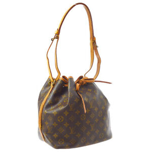 LOUIS-VUITTON-PETIT-NOE-SHOULDER-BAG-PURSE-MONOGRAM-CANVAS-M42226-BN04167
