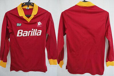 1987-1988 AS Roma Giallorossi Jersey Shirt Maglia Home Barilla nr ennerre S L/S | eBay