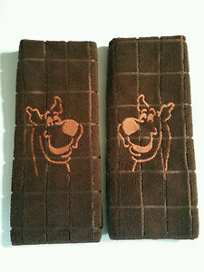 Image Is Loading Embroidered Scooby Doo Hand Towel Set Kitchen Bathroom