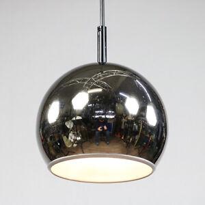 Chrom Kugel Pendel Lampe Decken Leuchte Vintage Chrome Ball Lamp