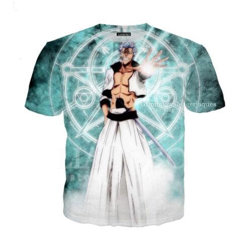 Women Men Bleach Kurosaki Lchigo Print Casual 3D T-Shirt Short Sleeve Tops Tee