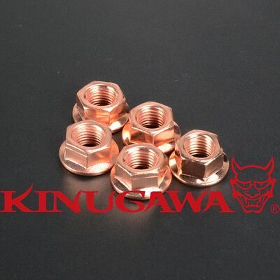 8 Turbo Nuts with a 13mm hex DIN 14441 8mm M8-1.25 Copper Plated Exhaust