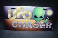 Ufo Chaser Novelty Metal License Plate For Cars Area 51 Space Aliens