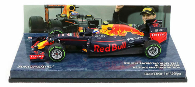 Minichamps 1 43 Max Verstappen rouge Bull Racing RB12 GP Brazilië Brazil