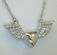 Heart Cremation Urn Necklace Heart With Wings Cremation Jewelry Keepsake