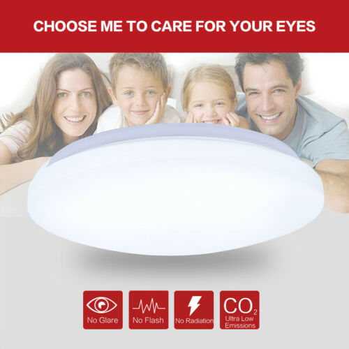 """24W LED Ceiling Light 15.7/"""" Round Flush Mount Fixture Dimmable Bedroom Lamp USA"""