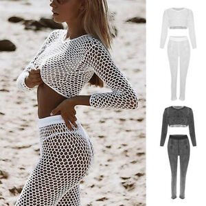 a3cbe54881 Image is loading Women-Lace-Crochet-Beach-Dress-Swimwear-Bikini-Cover-