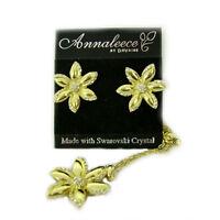 Summer Flower Earrings And Pendant Set 7033