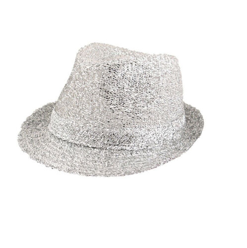 Tinsel Gangster Trillby Hat Fancy Dress Hen Night Stag Various Colours