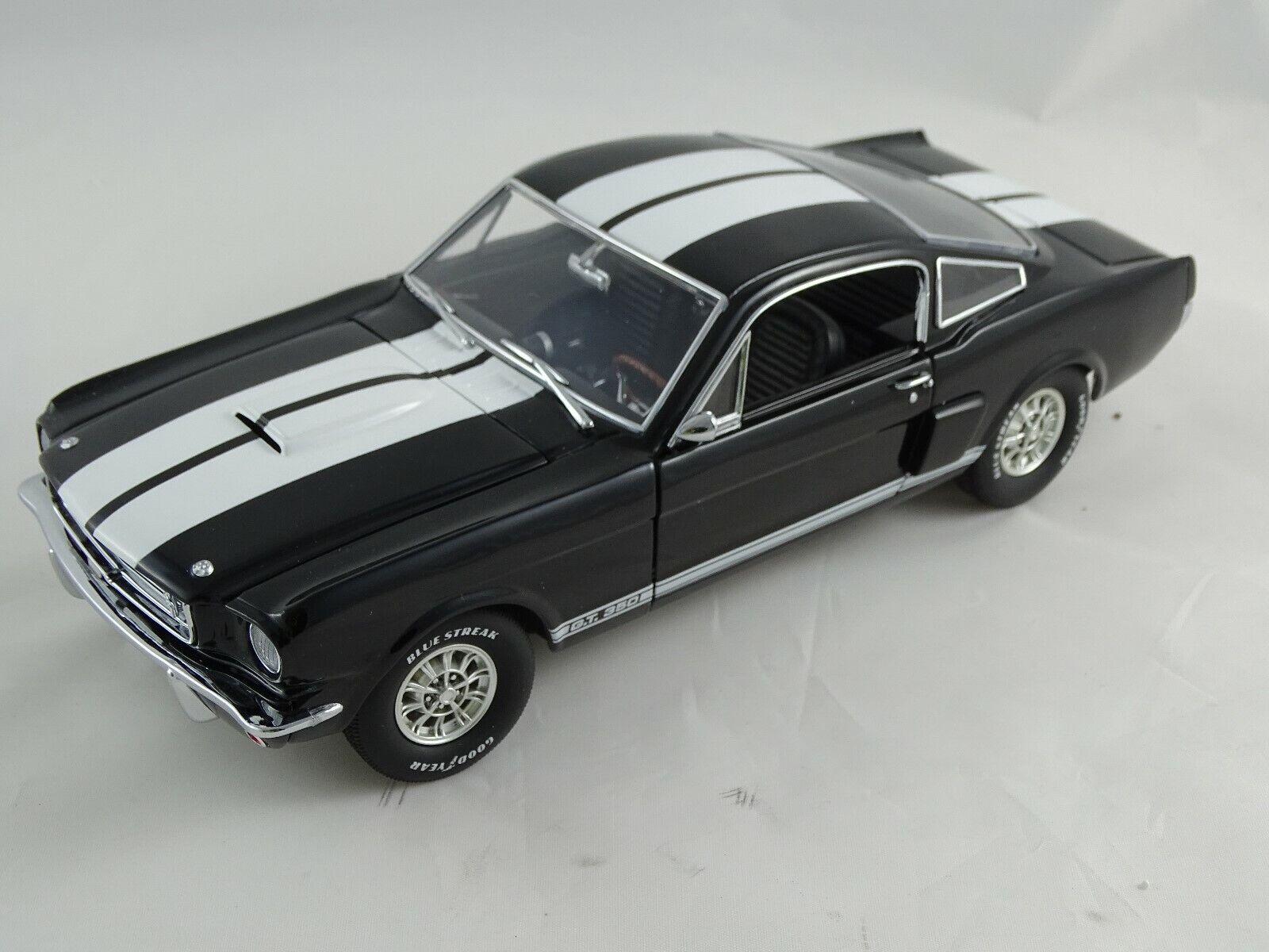 diseñador en linea 1   18 18 18 exacto detalle - 1966 Shelby G.T. 350 edición limitada negro nuevo   original box  punto de venta de la marca