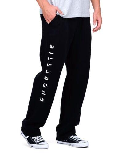 Size L RRP $59.99. Men/'s Team Black Fleece Track Pants BILLABONG NWT