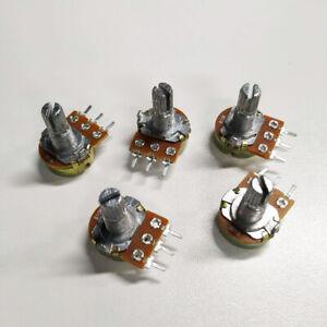 5x-0-5W-15MM-10K-ohm-Switch-Linear-Taper-Rotary-Potentiometer-Panel-pot-B10K-New
