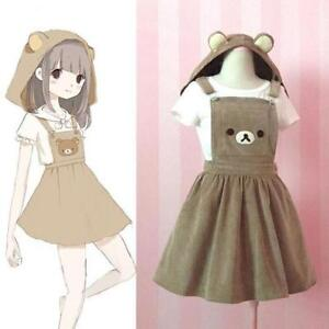 Image is loading Kawaii-Japanese-Vintage-Cute-Suspender-Sweet-Lolita-Bear- 6f8346441da