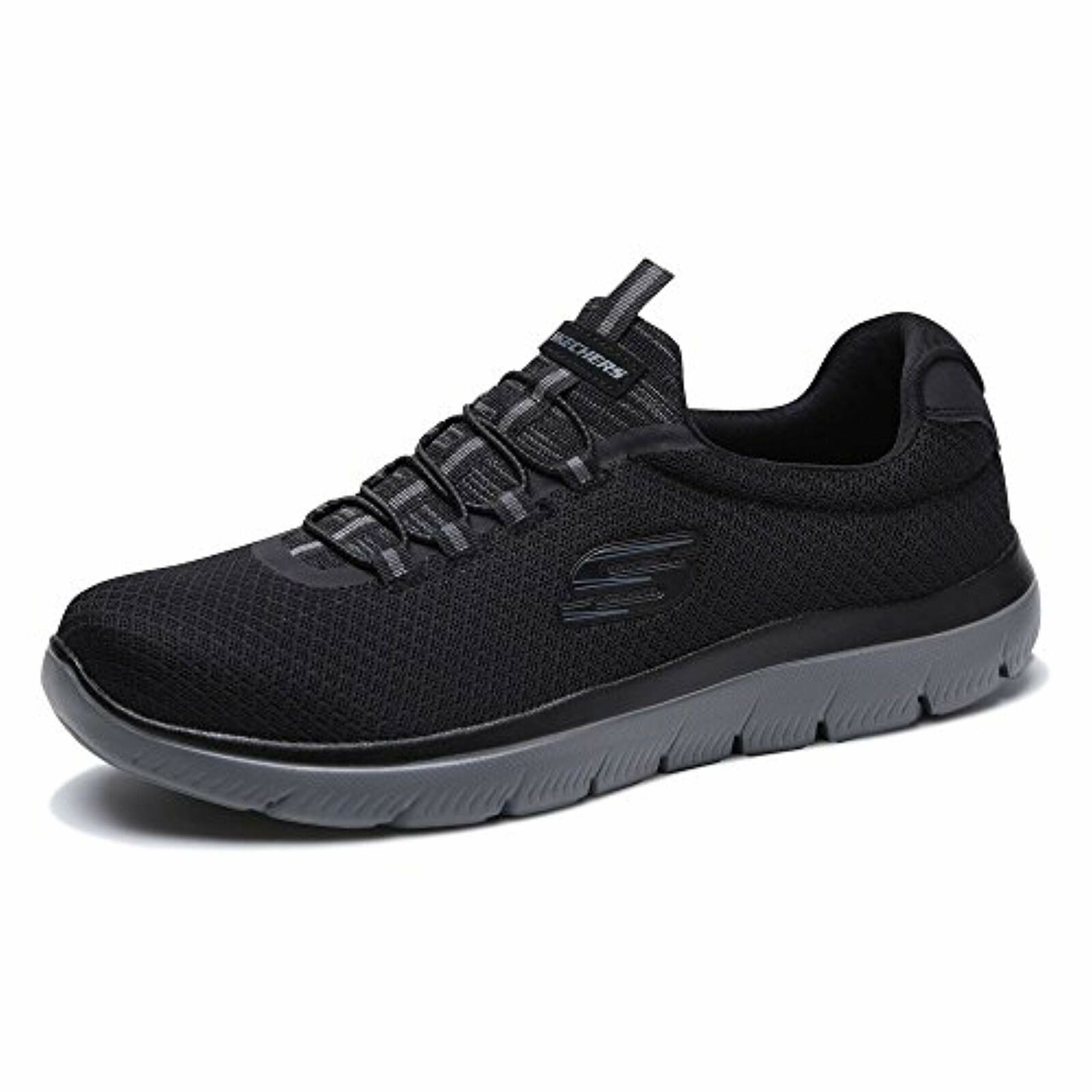 Skechers Summits Homme Slip On paniers Noir Anthracite 9 W
