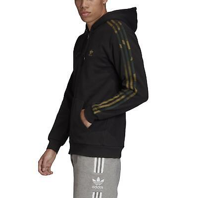 adidas Originals Camouflage Full Zip Hoodie Herren Kapuzenjacke schwarz FM3354 | eBay
