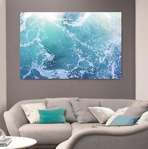 xxl bild leinwand 160x100x5 wasser t rkis blau wandbild meer natur gem lde ikea ebay. Black Bedroom Furniture Sets. Home Design Ideas