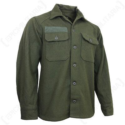 ORIGINAL US M51 WOOL SHIRT - Olive Green Korean War Era Surplus Combat Uniform