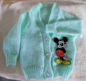 Disney's Mickey Mouse Knitted baby cardigan (New) Choice of sizes/colours