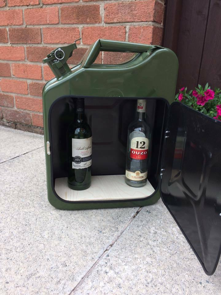 Jerry can bar   fishing   camping   drinks carrier   military  storage toolbox