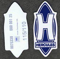 Original Hercules h Aufkleber In Blau, Uv Und Wetterbeständig Absolut Selten