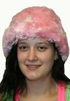 Cotton Candy Pink and White Furry Fuzzy Bucket Phat Hat