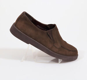 Mephisto-Cool-Air-Dark-Brown-Suede-Loafers-US-8
