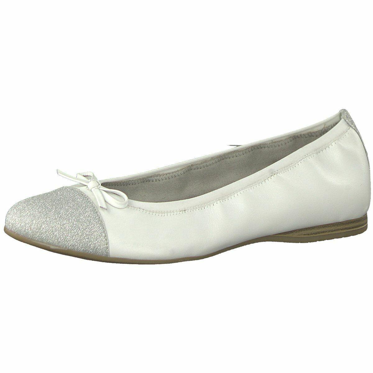 Tamaris Damen Damen Damen Ballerinas 1-1-22129-22-100 weiß 602570 e3fe80