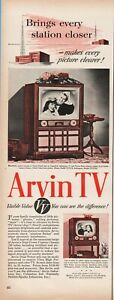 1950 Arvin Industries Columbus IN B&W TV Set vintage table television print ad