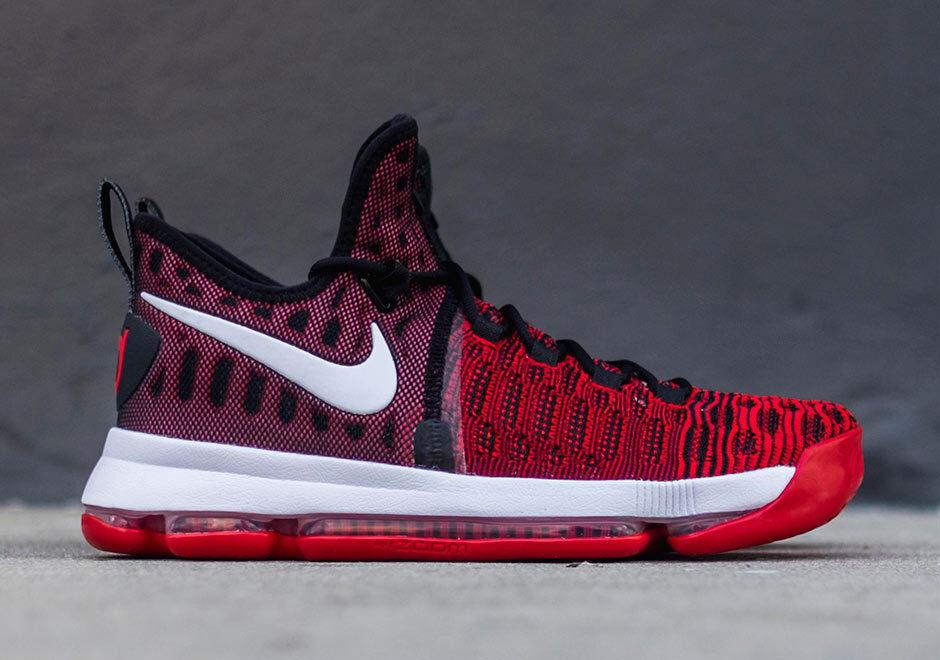 baloncesto Nike Zoom Kd Nuevo 9 Flyknit Universidad Rojo/Negro Nuevo Kd En Caja b46e9d