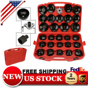 30PCS-Cap-Type-Oil-Filter-Wrench-CUP-Socket-Tools-Set-Automotive-Removal-Kit
