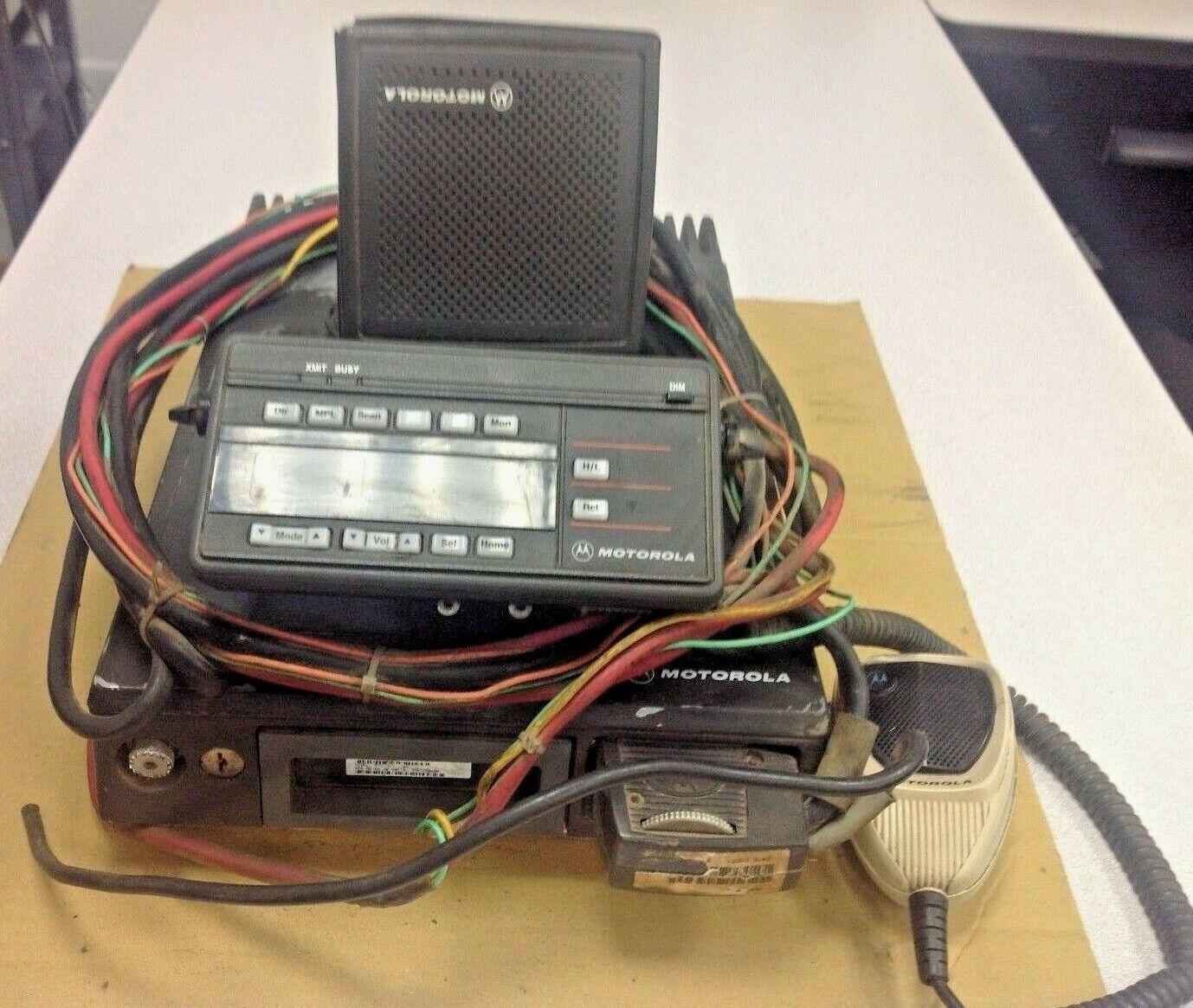 Vintage Motorola VHF 100W, MARATRAC,99 CH, Model T73XTA7TA7BK, Head, Speaker,MIC. Buy it now for 340.00