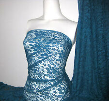 Teal 4 way stretch lace Fabric