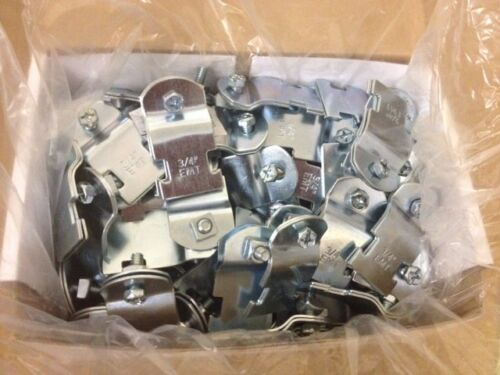 "50 Pack #4312 P1427 3//4/"" EMT Steel Conduit Pipe Clamps for Unistrut Channel"