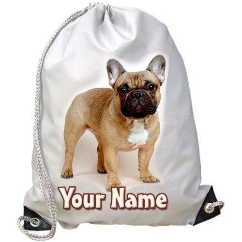 FRENCH BULLDOG SWIMMING PUPPY PERSONALISED GYM GIFT /& NAMED DANCE BAG