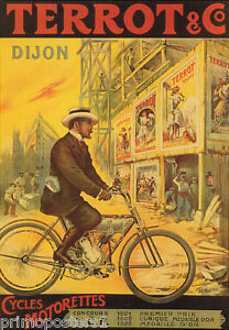ST GEORGE Bicycle Bike France Vintage Poster Repro FREE S//H in USA
