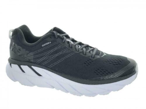 Women/'s Hoka One One Clifton 6 Running Athletic Shoes Black White