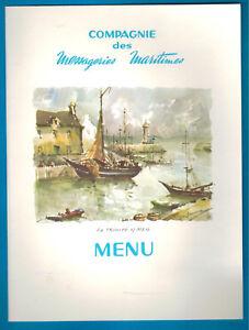 1968 -menu à Bord 1ère Classe-compagnie Maritime-la Trinité Sur Mer-jean Laborde Leqetb3z-07232435-973934250
