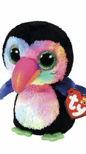 Ty-Beanie-Boos-6-Beaks-The-Toucan-with-Green-eyes-BNWOT