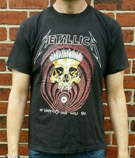 """Vintage Original 1990 Metallica pusshead 'en Vértigo """"Tour de T-Shirt 90s Rara"""