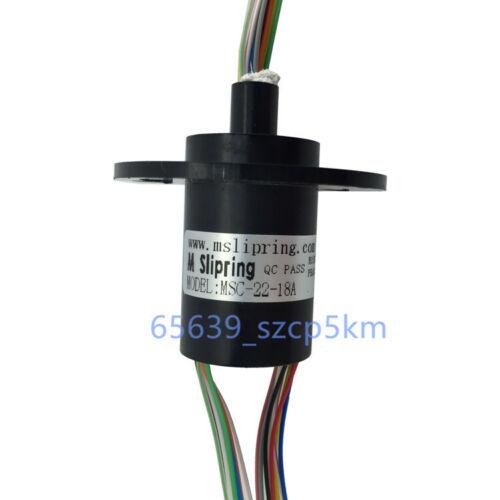 Nouvelle Capsule Slip Ring 18 fils 22 mm 2 A AC240V 300 tr//min F Moniteur Équipement d/'essai