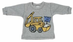 Mulberribush-Boys-Sweatshirt-Gray-Size-12-Months-Long-Sleeve-Truck-Graphic-NEW