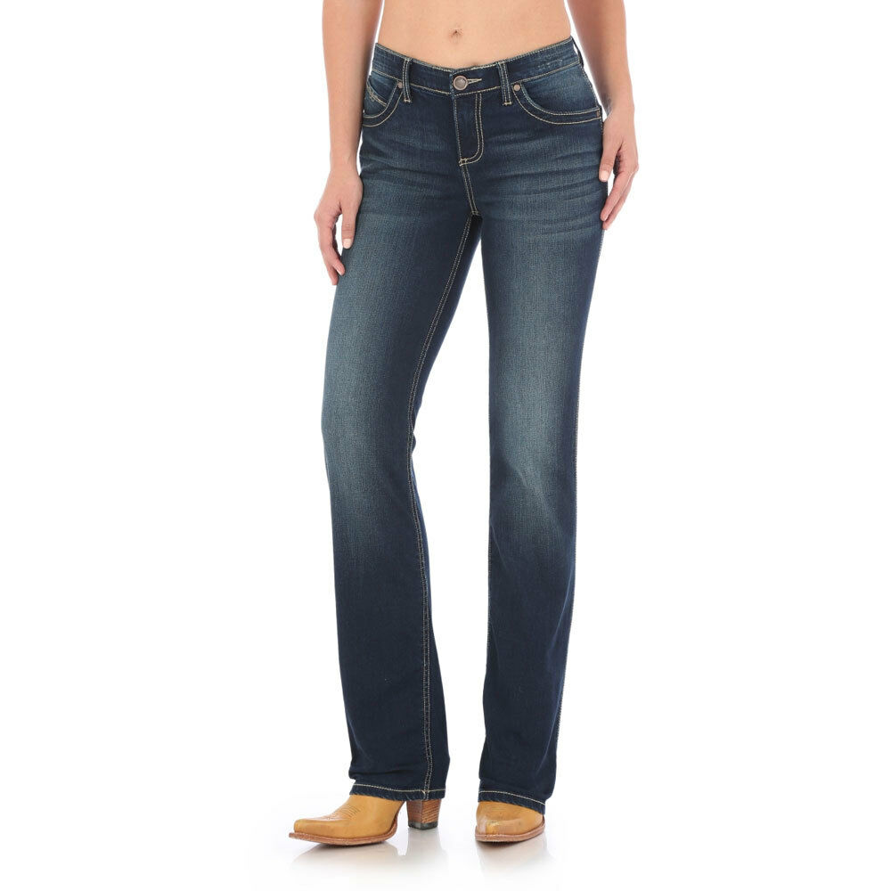 WRQ20NR Wrangler Ladies Q-Baby Ultimate Riding Jean - Dark bluee NEW