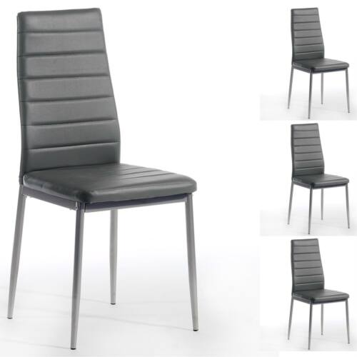4er SET Esszimmerstuhl Essgruppe Küchenstuhl Essstuhl in schwarz grau oder weiss