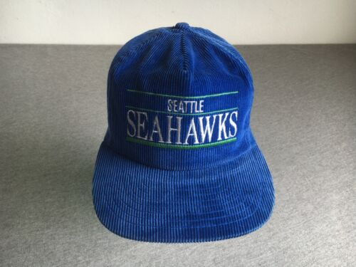 Seahawks Hat 90s Vtg Corduroy Seattle Snapback Pr… - image 1